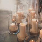 Une multitude de bougies cylindriques pas chères