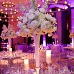 Un mariage éclatant de lumière avec des bougies :