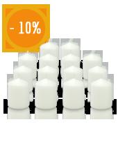 Bougies votives blanches de mariage